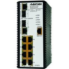 SD-4208-G-DSC Промышленный управляемый коммутатор 8 x 10/100TX + 2 x 10/100/1000/Dual Speed SFP Combo