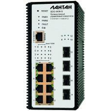 SDG-5408-G-DS Промышленный управляемый L2 + коммутатор 8 x 10/100/1000 + 4 x 100/100M SFP